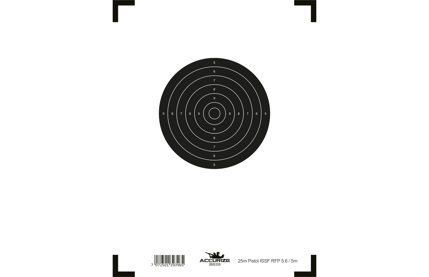 Accurize front target 25m Pistol ISSF RFP5.6/5m Image