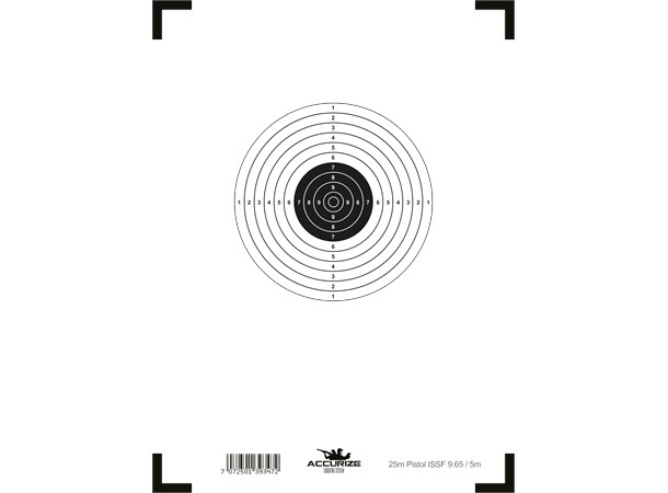 Accurize front target 25m Pistol ISSF 9.65/5m - copy Image